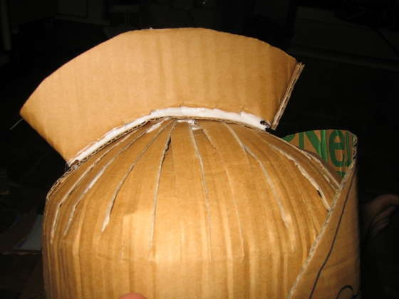 How to make a roman soldier helmet from cardboard