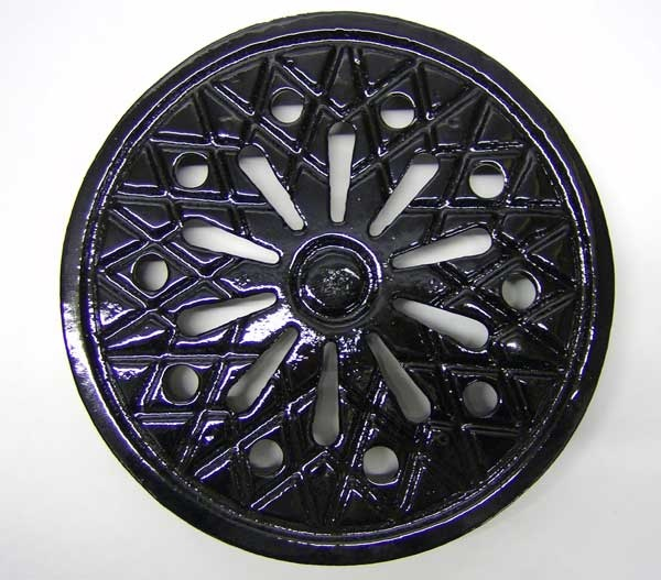 New Coal Hole Covers in cast iron - 12inch round ventilated and solid complete with frame from The Cast Iron Air Brick Company £130