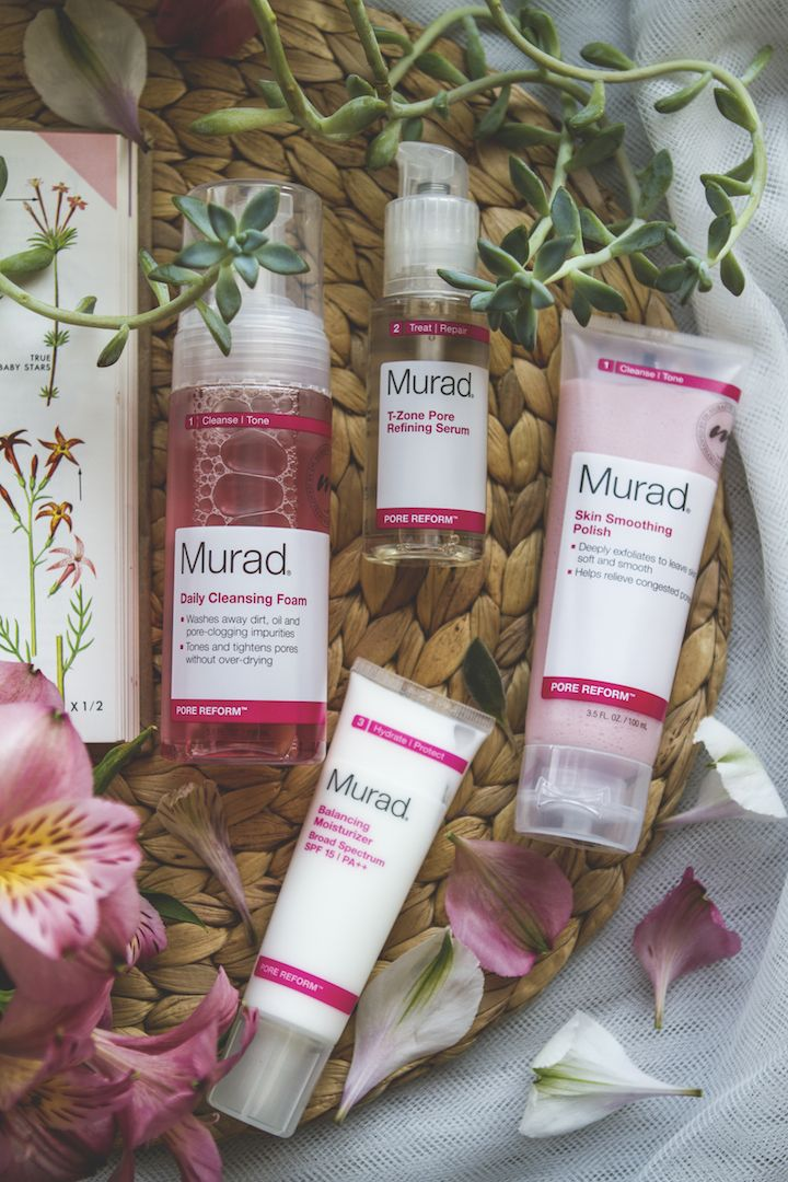 Murad skincare - Pore reform skincare line for combination skin review | TLV Birdie Blog