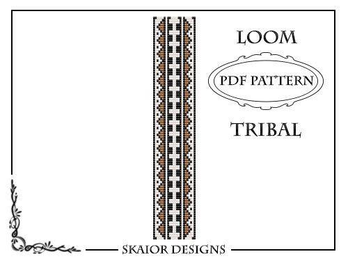 Beading Pattern Loom Bracelet Seed Beads Geometric Tribal