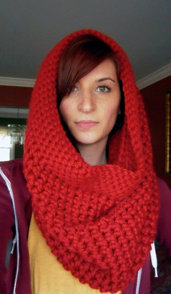 Chunky Hooded Cowl - picture for inspiration purposes only.