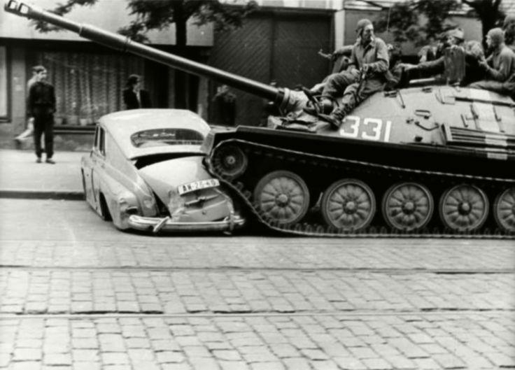 ASU-85 in Prague, Operation Danube, August 1968