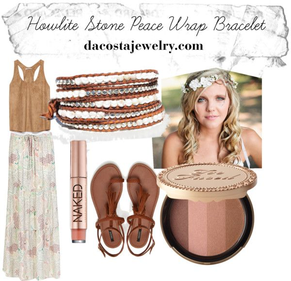 """Peace Da Costa Wrap Bracelet"" by dacostajewelry on Polyvore"