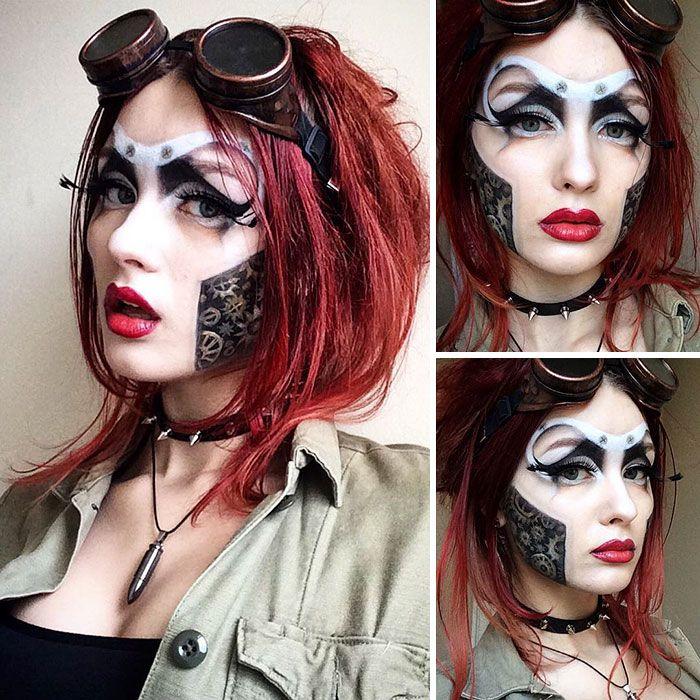Saida Mickeviciute é uma artista lituana de 19 anos que vive em Londres, na Inglaterra. Em seu tempo livre, a jovem pratica suas habilidades em maquiagem e cria alguns trabalhos REALMENTE impressionantes.