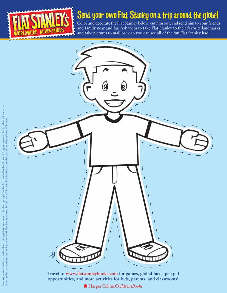 17 best ideas about flat stanley on pinterest travel for Free printable flat stanley template