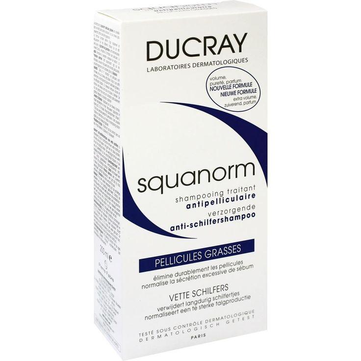 DUCRAY SQUANORM fettige Schuppen Shampoo:   Packungsinhalt: 200 ml Shampoo PZN: 10308897 Hersteller: PIERRE FABRE DERMO KOSMETIK GmbH…