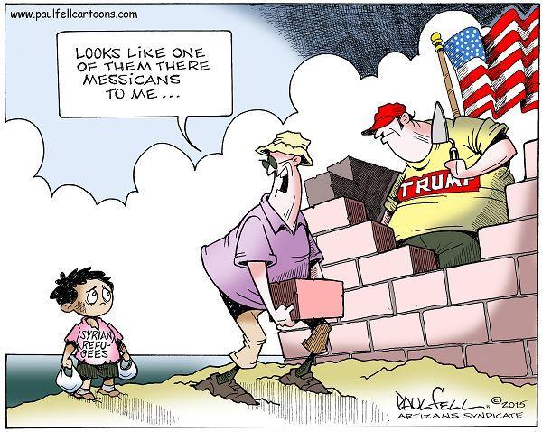 Cartoon by Paul Fell - Syrian Refugees | Political cartoons ...