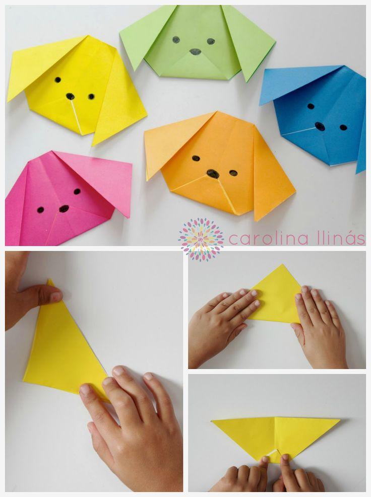 Artividades perros y gatos origami para ni os - Cositas para bebes manualidades ...