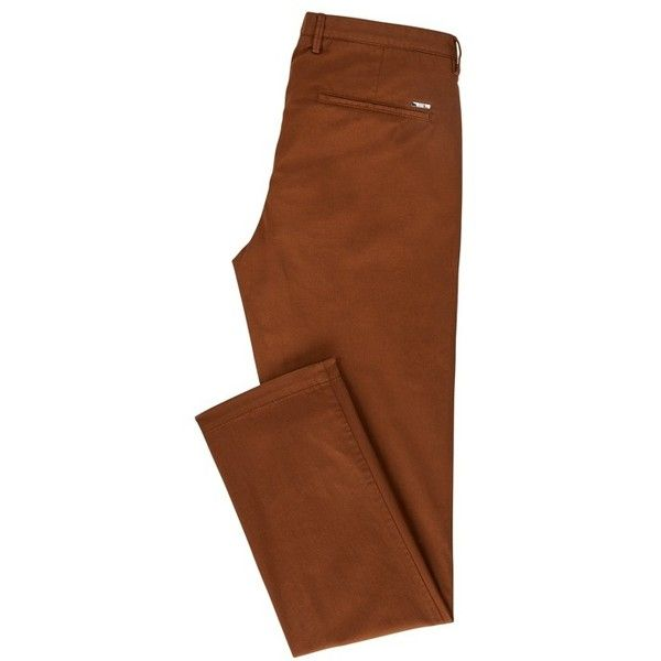 Cotton Stretch Chino Pant, Slim Fit | Rice D Brown from BOSS for Men for $155.00 in the official HUGO BOSS Online Store free shipping