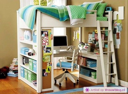 Kinderslaapkamer Kast : Room Designs with Loft Bed for Teens
