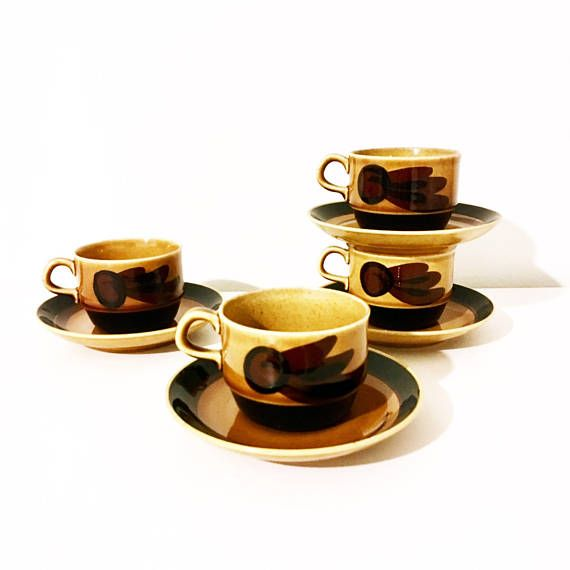 Vintage Rörstrand Sweden coffee cup and saucer named Tuna