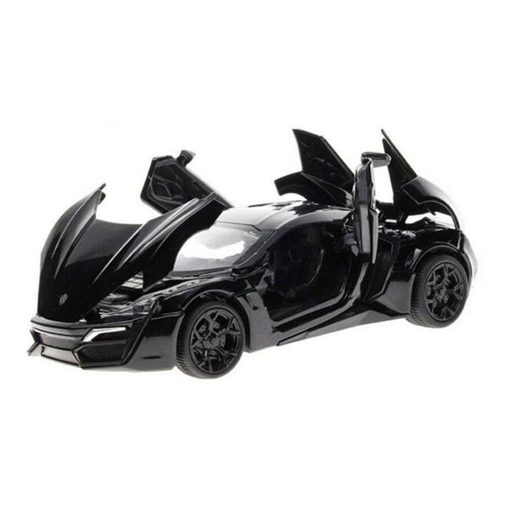 Miniatura de carro Rapide Et Furieux 7 Modèle De Voiture 1:32 Alliage moulé sous pression Lykan Hypersport Pull Back Avec Électronique Jouet Voitures Enfants Jouets