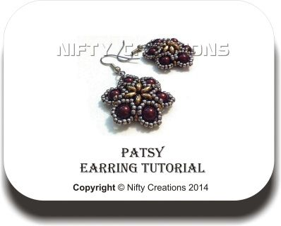 Patsy Earrings - Tutorial  $5 - Digital Download www.niftycreations.com.au