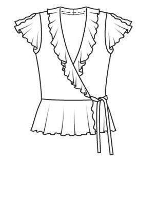 2acecf811a7 Блузка - выкройка № 113 A из журнала 3 2008 Burda – выкройки блузок на  Burdastyle.ru - BurdaStyle.ru