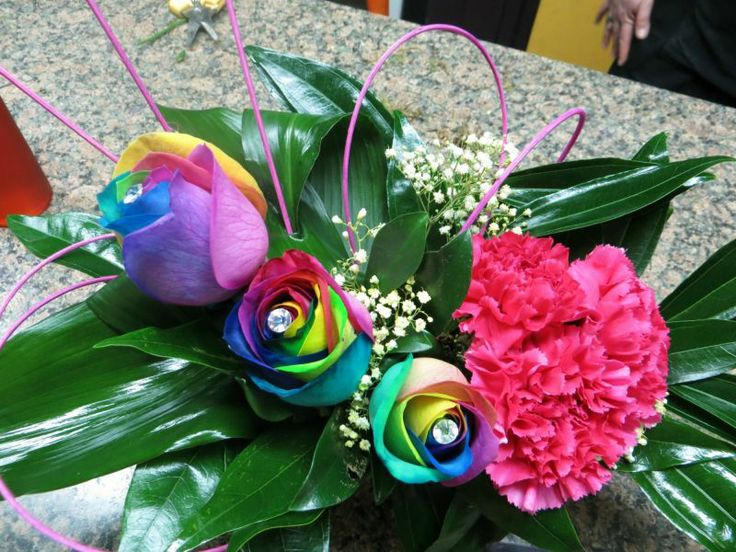 116 best images about decorative tie dye flowers on pinterest for Rainbow dyed roses