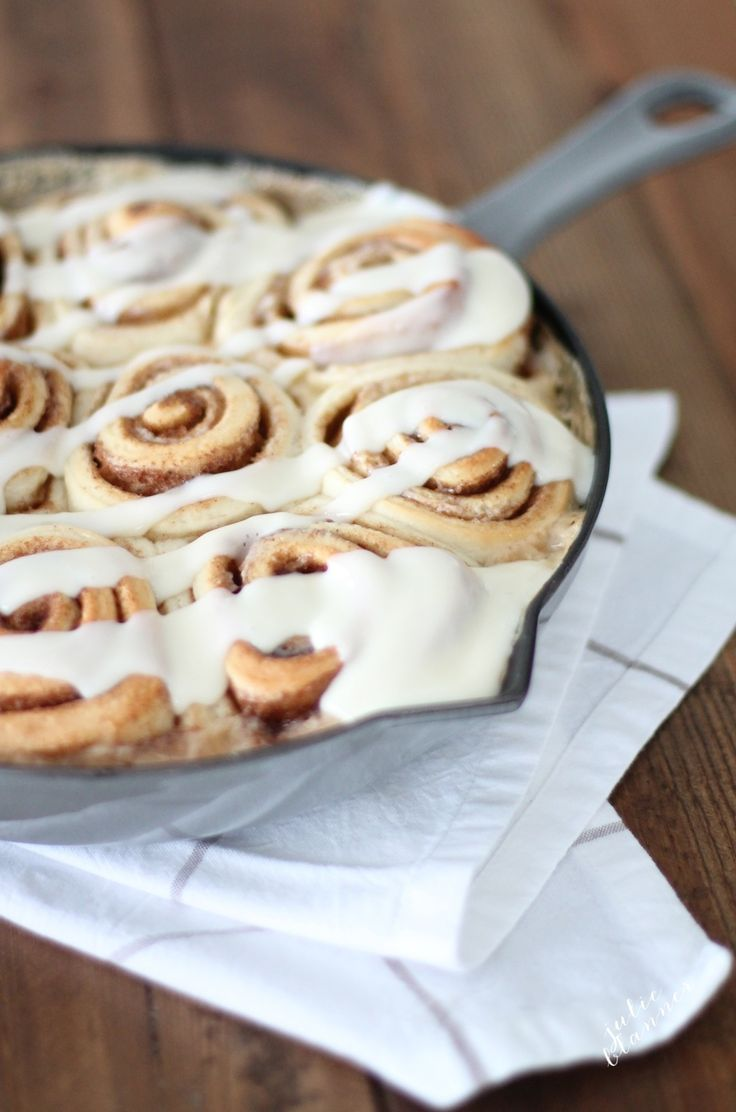 Easy made from scratch cinnamon rolls in about an hour @julieblanner