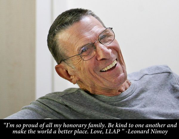 "iheartleonardnimoy: "" Remember Leonard Nimoy on World COPD Day! Please help spread awareness! http://copdllap.com/ """