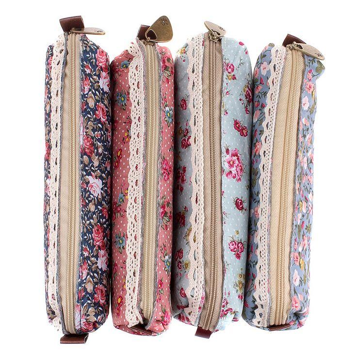 Mersuii Set Of 4 Cute Sweety Floral Pen Pencil Bag Case