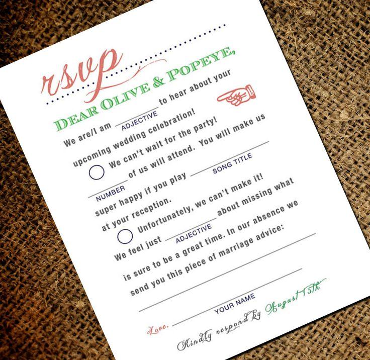 Fun Wedding Rsvp Card Wording