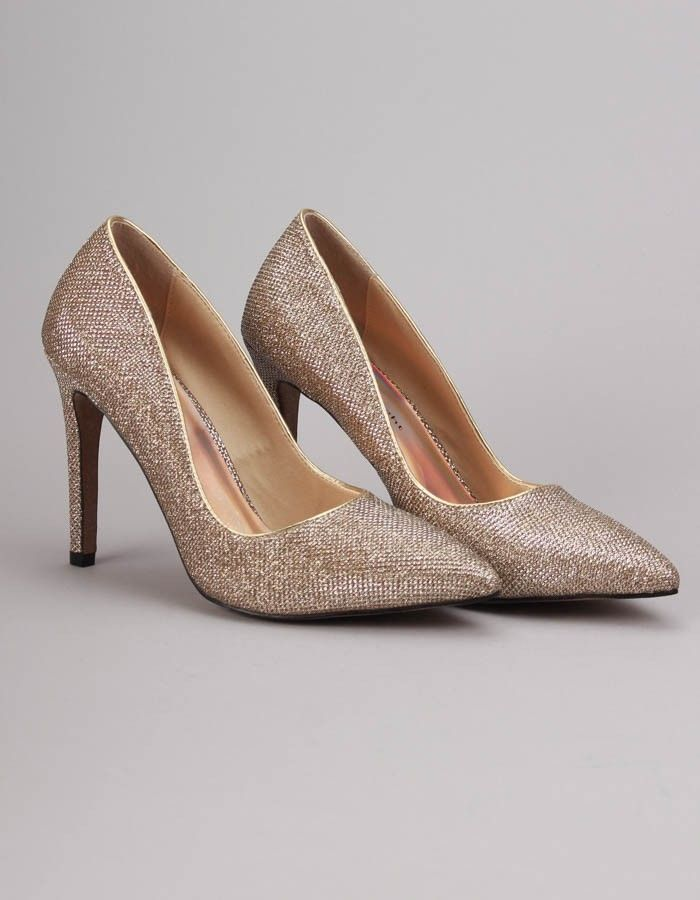 Jessica Wright Gold Amelia Heels | Accent Clothing