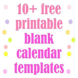 Free printable blank calendar templates - Kalender zum Selbst-Ausfüllen…
