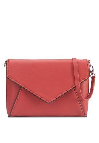 Envelope Flap Sling Bag from ZALORA in grey_1