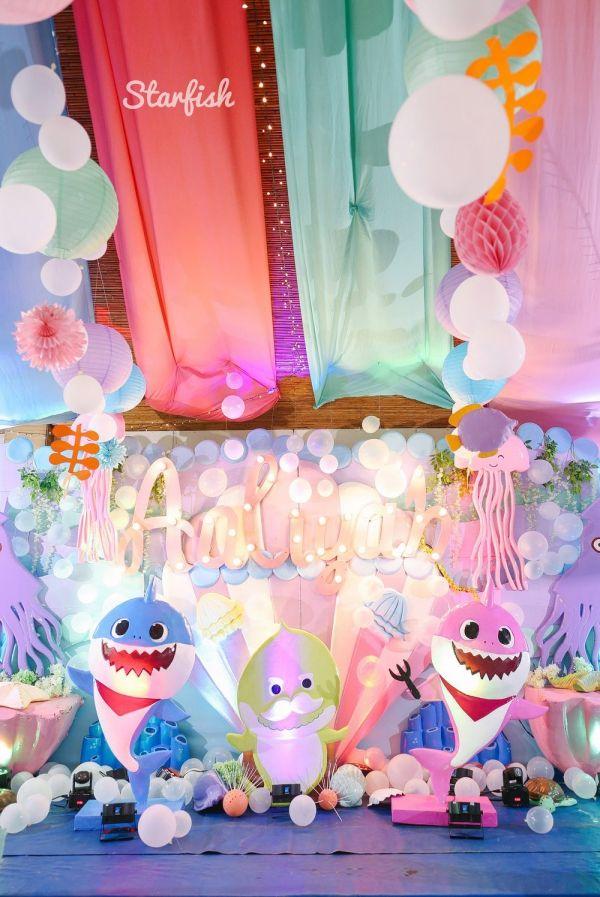 Aaliyah S Quirky Baby Shark Themed Party Shark Themed Party Shark Themed Birthday Party Shark Theme Birthday