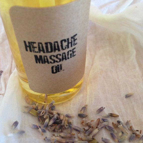 Headache Relief Massage Oil – Aromatherapy – Spa Treatment