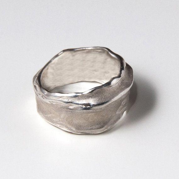 Wrap sterling silver ring unisex ring wedding ring by doronmerav, $100.00