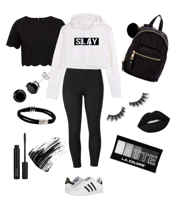"""Black & white casual"" by izzyhowe on Polyvore featuring Ted Baker, Venus, adidas, Madden Girl, Violet Voss, L.A. Colors, Marc Jacobs and plus size clothing"