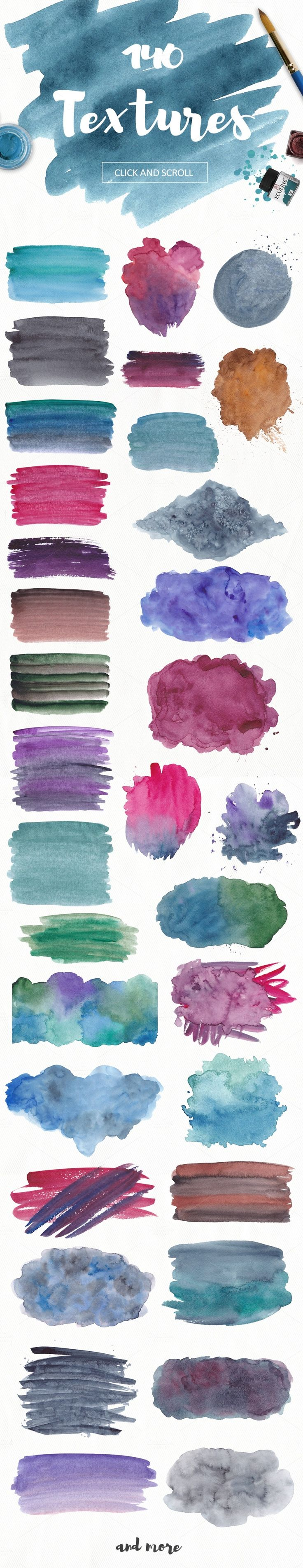 These watercolor textures are perfect for scrapbooking, cardmaking, home decor items, invitations, photo albums, craft projects, collages, wall art, web graphics, business cards, letterhead, wedding supplies, stationary and much more.
