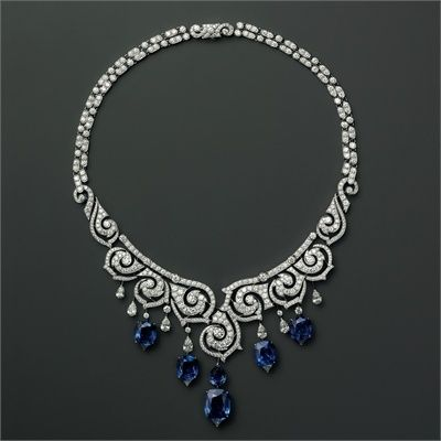 Cartier sapphires and diamonds necklace