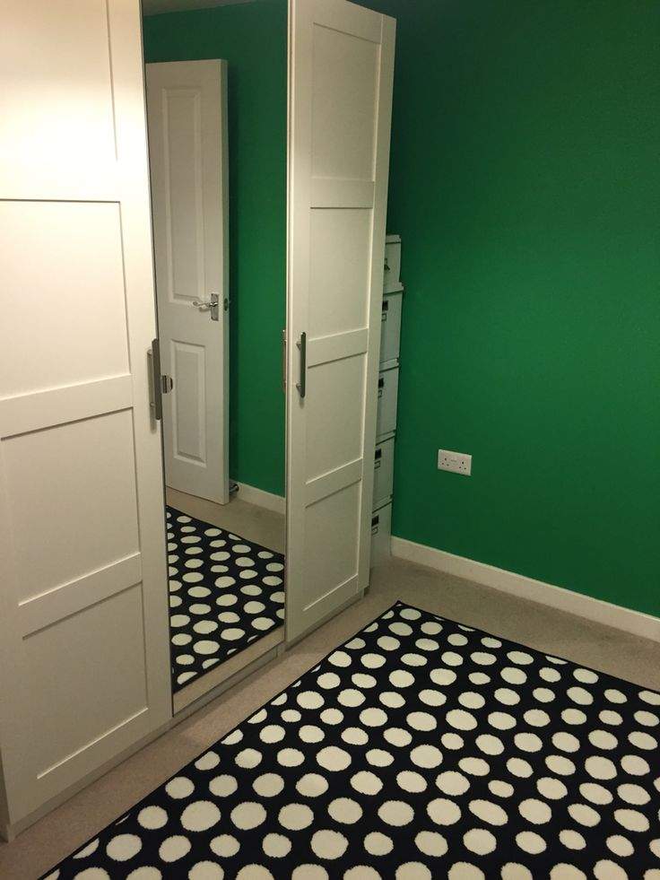 Ikea Pax Wardrobe And Ikea Polka Dot Rug Plus Dulux Pixie