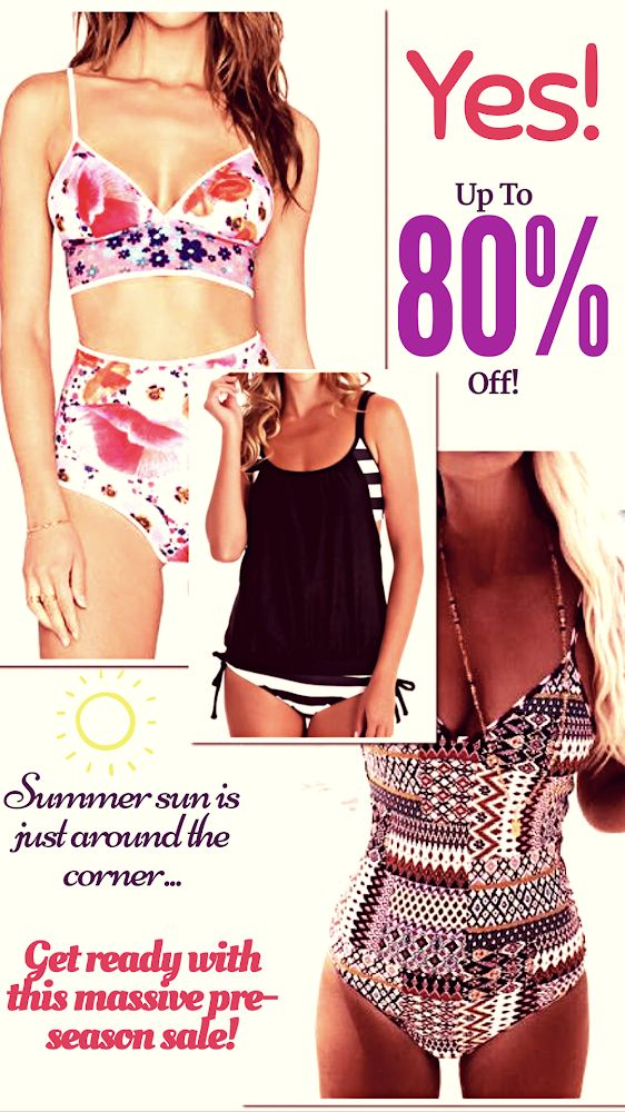 Whether you want to cover a little or a lot, there's a suit (or two!) to fit your style. With up to 80% off some suits are as low as $7.99!!! And, free shipping! It's fairy season! summer swimsuits Style, fashion, women's fashion, women's clothing, clothing, ad, retailer, online store, beauty, apparel, accessories, free shipping,