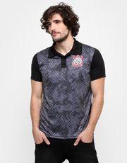 Camisa Polo Corinthians Basic Camuflagem Sublimada