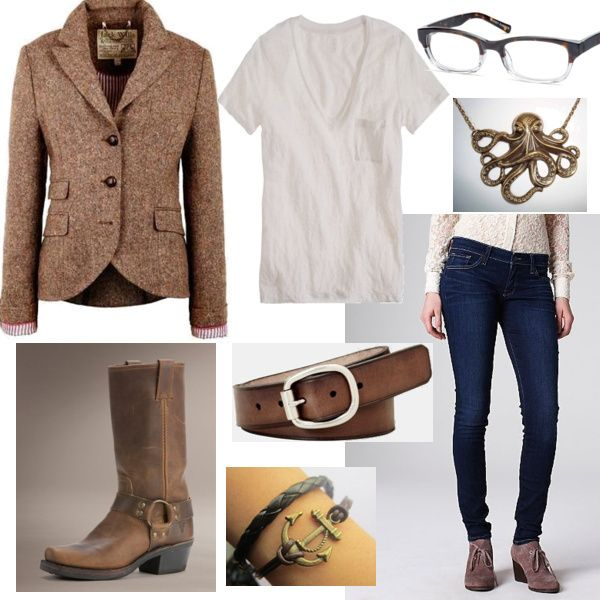 Andi's #outfit for the White T-Shirt #fashion mission features cool buckle #boots by Frye