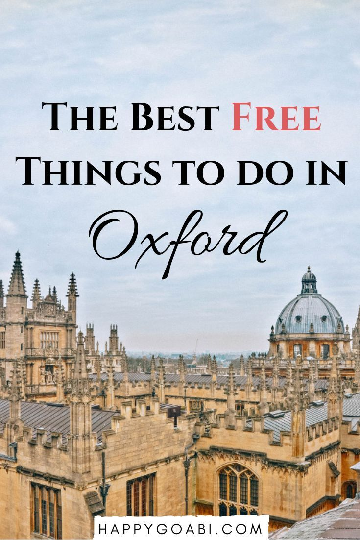 Looking for the best free things to do in Oxford?  Here are the most amazing thi…
