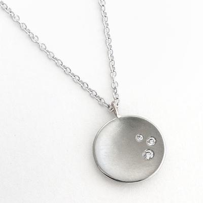 Anne Sportun 18K White Gold Comet Necklace-love the simplicity