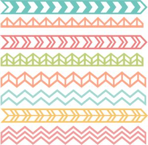 Chevron Borders SVG cut files