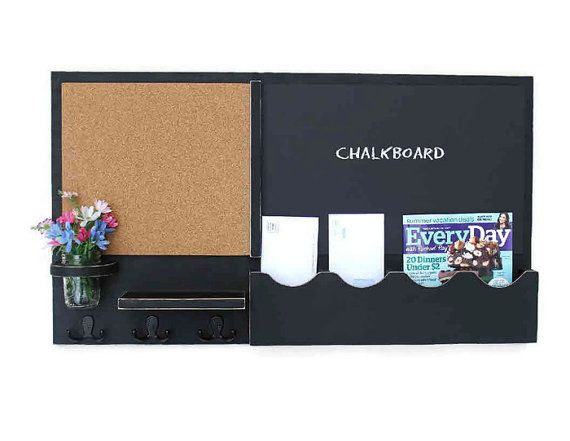 Hey, I found this really awesome Etsy listing at https://www.etsy.com/listing/187890752/mail-organizer-cork-board-chalkboard