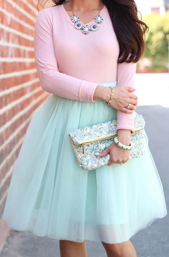 Shabby Apple Mint Tulle Bloom Skirt I want this skirt!!! Too bad its 78$