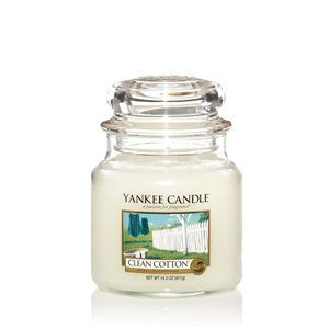 Yankee Candle Doftljus (Clean cotton, fluffly towels, vanilla)