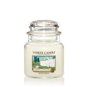 Yankee Candle Doftljus (Clean cotton, fluffly towels, vanilla)