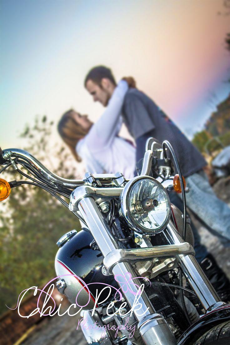 Motorcycle Engagement Photography Photo