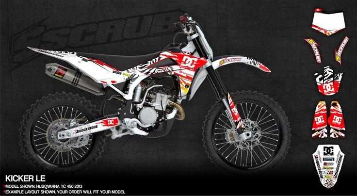 KICKER Decals Graphics Kit For Husqvarna Dirtbike Motocross - Decal graphics for dirt bikes