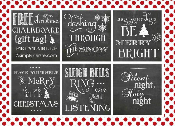 Christmas Chalkboard Gift Tags...FREE printable! simplykierste.com
