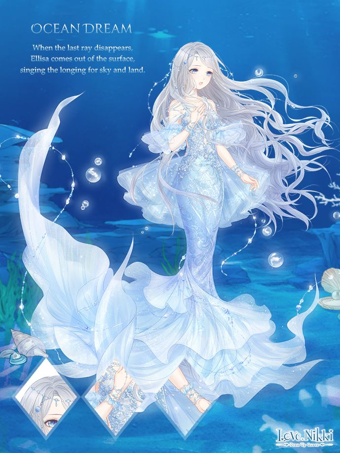 Keep Up On The Latest Https Www Facebook Com Lovenikkigame Exclusive Videos Https Www Youtube Com C Lovenikki Anime Art Girl Anime Mermaid Queen Anime