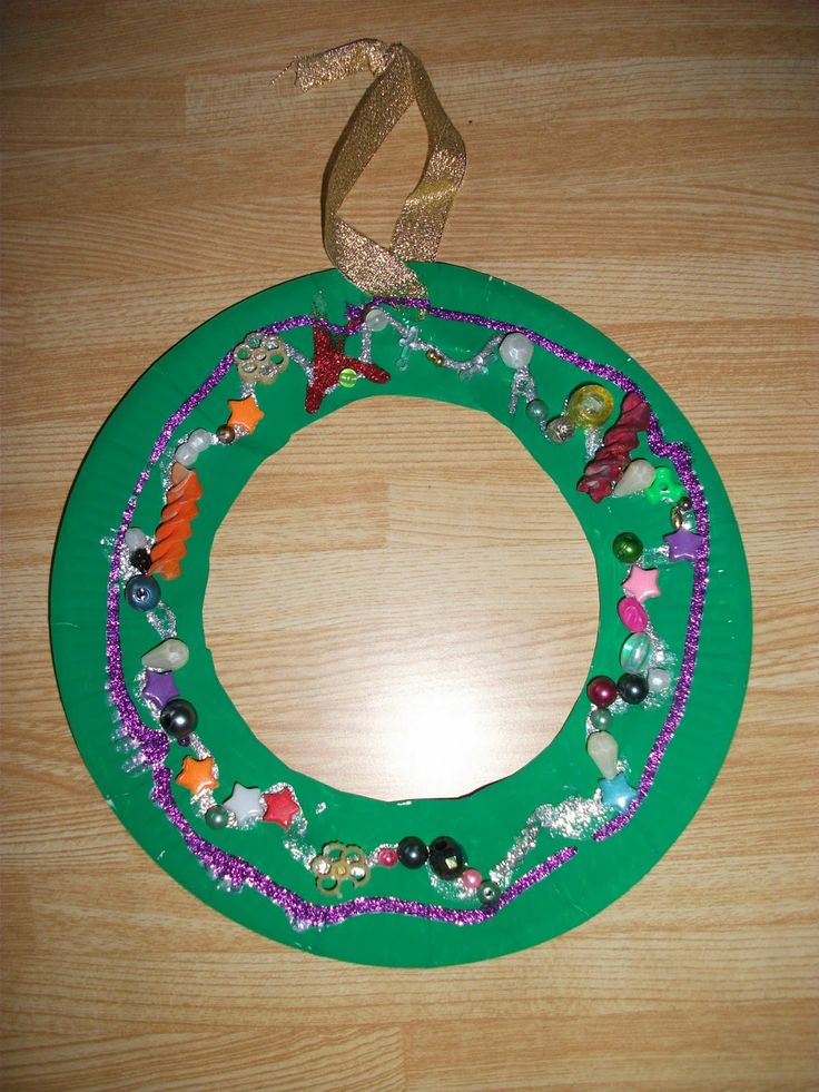 Preschool Crafts for Kids* Paper Plate Christmas Wreath