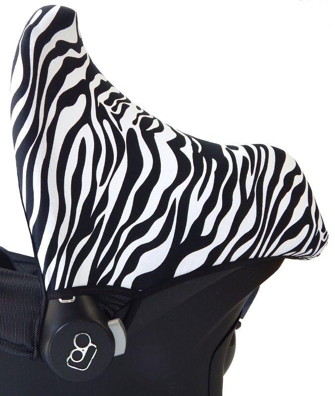 Zonnekap Zebra Maxi Cosi | carseat cover, maxicosi hoes, bezug babyschale, canopy