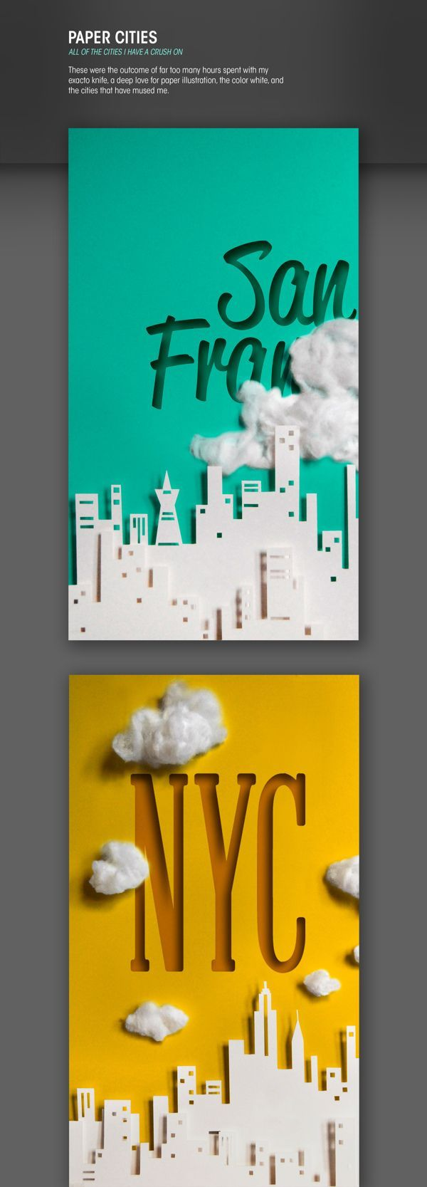 Paper Cities by Ali Prater. This is inspirational because it reminds me that design can be fun
